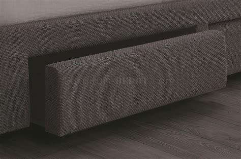 fenbrook  upholstered bed  grey  coaster wstorage