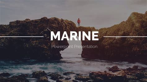 Marine Powerpoint Template By Qiudesigns Graphicriver Marine Ppt Templates Free