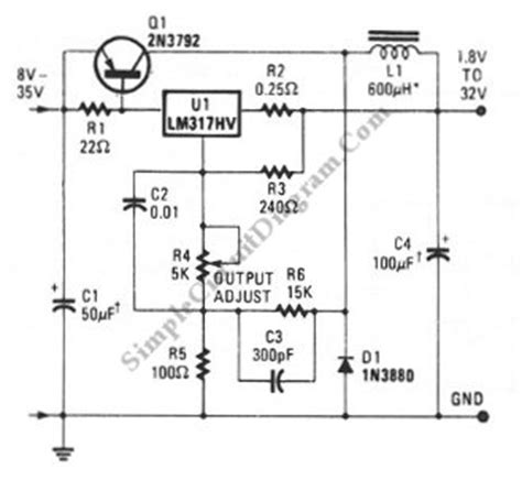 capacitance multiplier jlh lm317 low cost 3a switching regulator simple circuit diagram