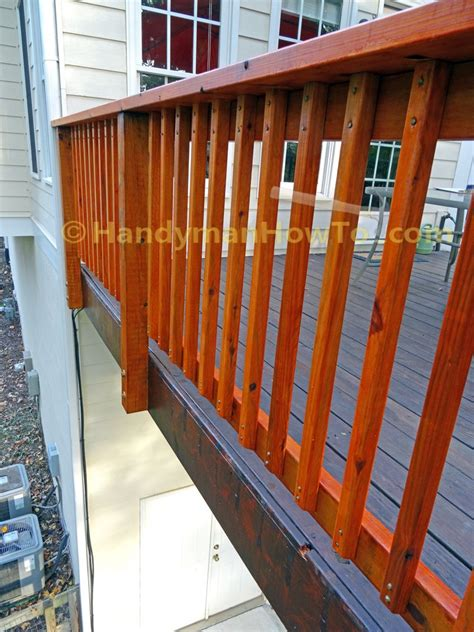 build code compliant deck railing part
