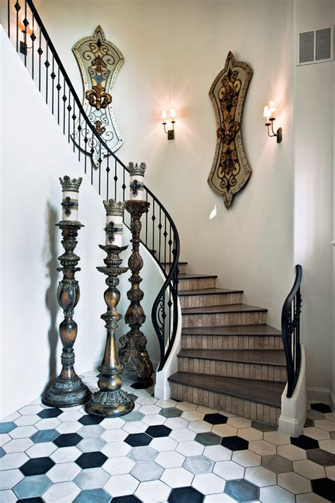 lomonaco s iron concepts home decor tuscan curved stairway cement tiles curved staircase metal railing sconce wall