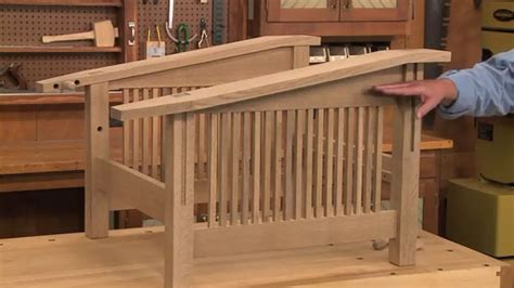 craftsman morris chair woodworking project woodsmith plans