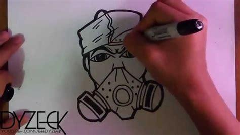 Sprei Karakter No 3 zeichnung charakter einer gasmaske mit spray