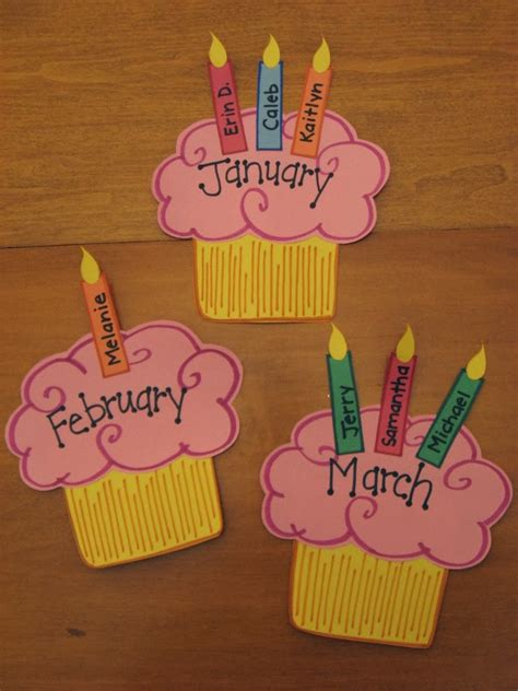 cupcake birthday chart template template birthday calendar search results