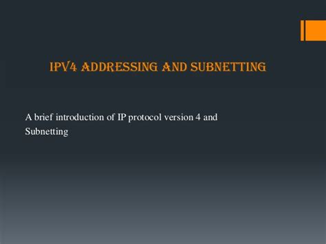 subnetting tutorial powerpoint ipv4 addressing and subnetting