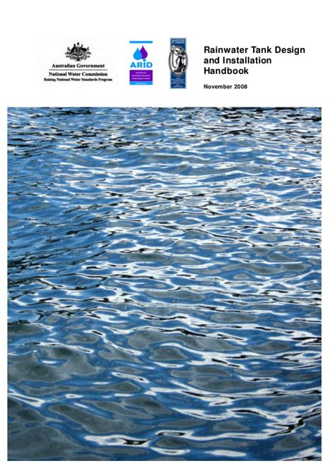 rainwater tank desing and installation handbook nov 08 rainwater tank design and installation handbook