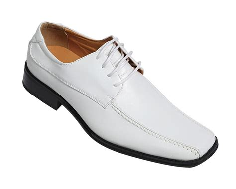 s oxfords faux leather dress shoes 4805 solid white size 8 5 13 ebay