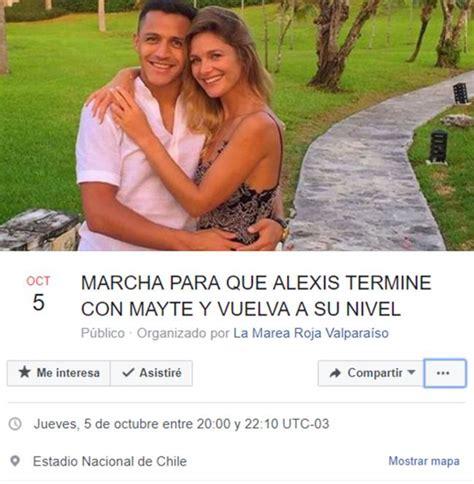 alexis sanchez y su novia en facebook convocan una marcha para que alexis s 225 nchez y
