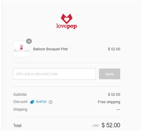 Gift Card Coupon - lovepop cards coupon