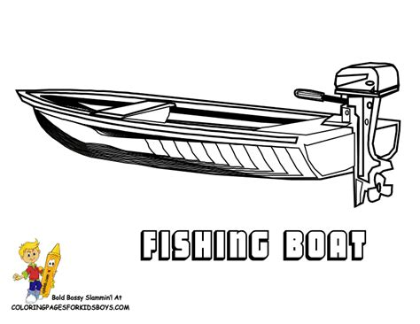 free coloring pages of bass fishing boats