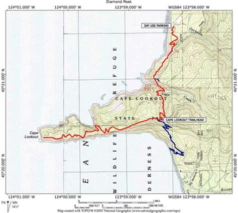 map of oregon lookouts cape lookout hike hiking in portland oregon and washington