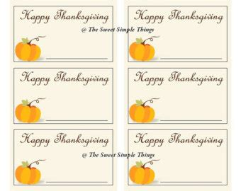 printable thanksgiving table cards place marker table etsy