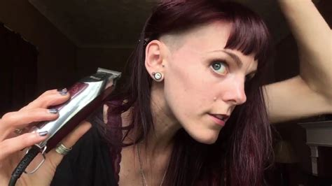 womens side burns how to shave pointed sideburns for women youtube