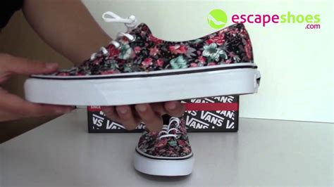 Vans Authentic Floral Premium Icc sneakers vans authentic multi floral black true white