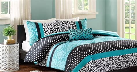 black white and turquoise bedding total fab black white and turquoise bedding