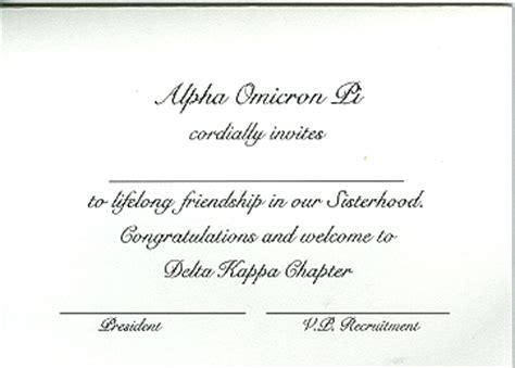 bid day card sorority template maker alpha stationery kappa alpha theta engraved fold