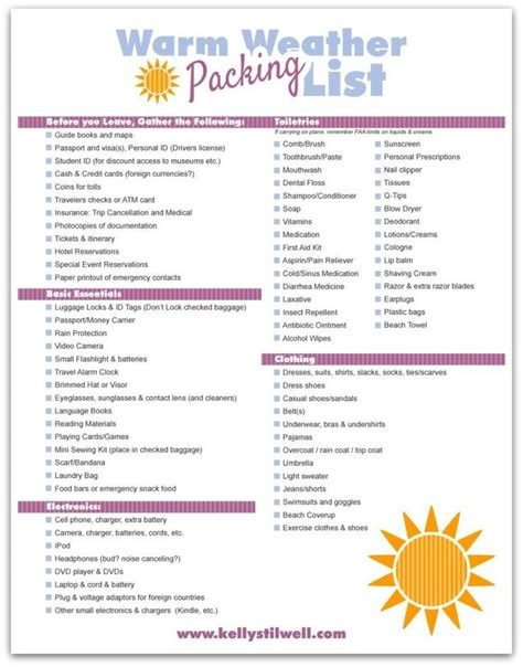 printable cruise travel checklist 6 tips for vacation packing free printable vacation
