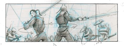 star wars storyboards 1419707728 star wars episode 1 the phantom menace battle sequence storyboards collider