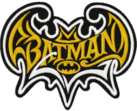 design a logo for embroidery photo of batman modern logo machine embroidery design in 4