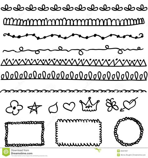 free doodle lines doodle elements royalty free stock photography image