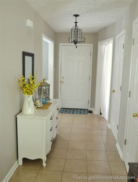 behr paint colors wheat bread entryway before and after beige to greige with behr paint