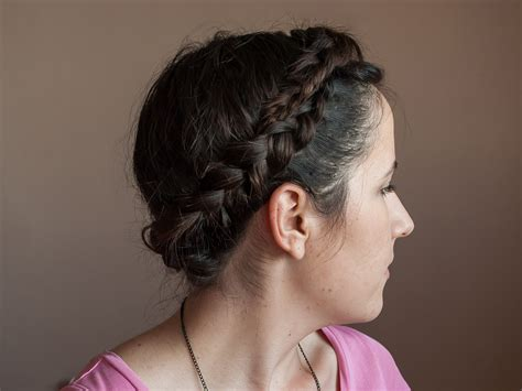 wikihow braid how to make a crown braid 7 steps with pictures wikihow
