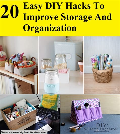 organization hacks 350 simple solutions to organize your home in no time books 20 easy diy hacks to improve storage and organization