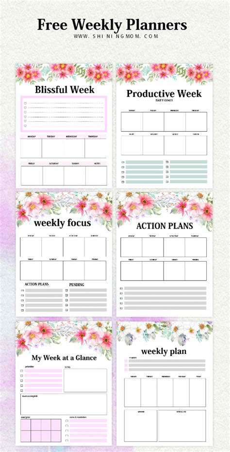 Weekly Planner Template 15 Free Brilliant Designs Planner Template