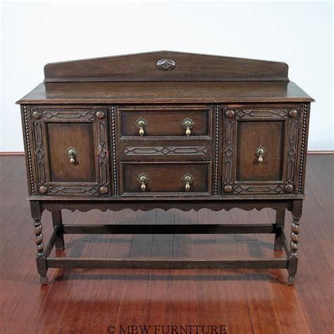 antique oak barley twist jacobean buffet sideboard one