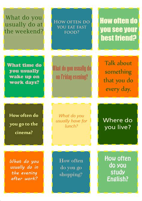 printable conversation cards template conversation cards the handouts