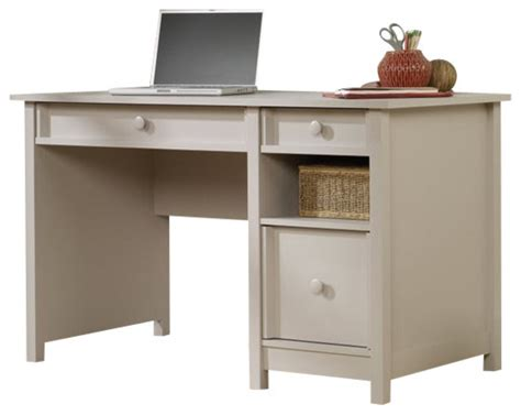 sauder original cottage desk in cobblestone farmhouse
