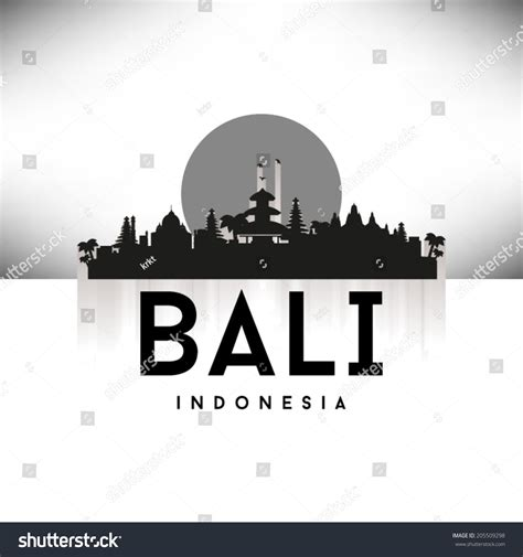 indonesia detailed skyline vector illustration stock bali indonesia black skyline silhouette vector