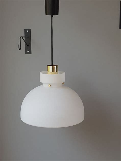 limburg illuminazione glash 252 tte limburg pendant light white glass and brass
