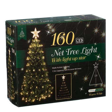b m 160 led tree net christmas light with star 2819191