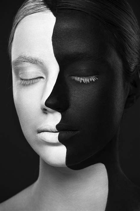 white facing shocking black and white illustrations