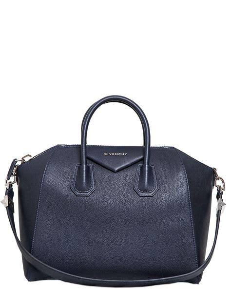 Givenchy Antigona Leather 61733 Leather lyst givenchy medium antigona grained leather bag in blue