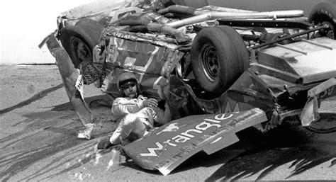 tim richmond helping dale earnhardt   crash pocono