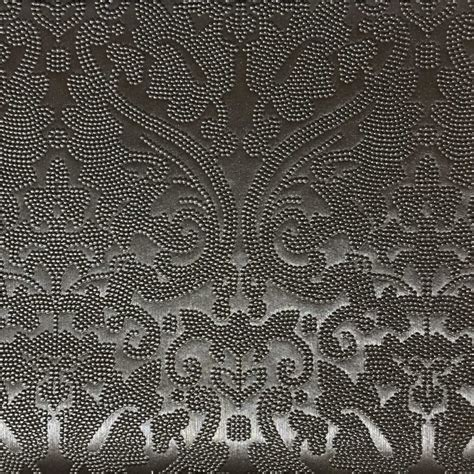 lyon embossed damask pattern vinyl upholstery fabric