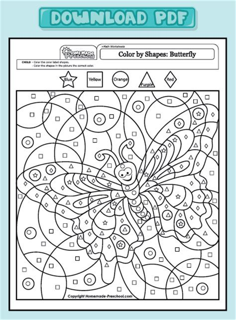 numbers colouring book pdf - Coloring Pages: Math Worksheets Color ...