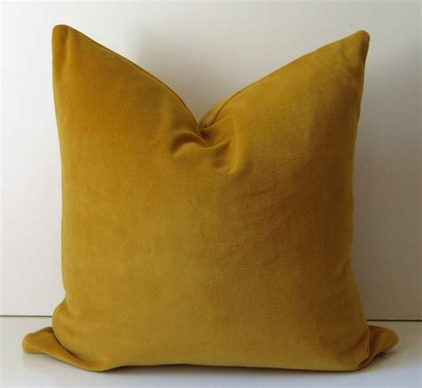 Mustard Yellow Pillow by Mustard Yellow Pillow Decorative Pillow Cover 20 Inch