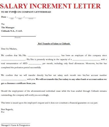 thank you letter to on increment salary increment letter format of salary increase the