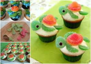 Squirt Turtle Cupcakes 2 550x387 birthday cake mix recipes 14 on birthday cake mix recipes