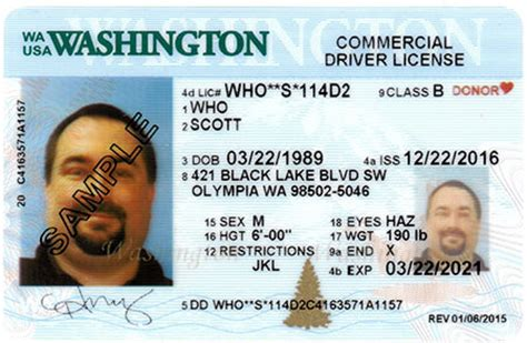 washington state id card template washington id template washington state drivers