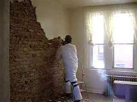 Removing Stucco From Interior Walls removing plaster and exposing brick in a south philly