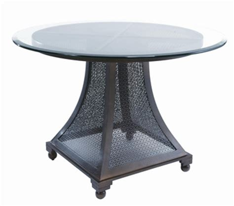 Bianca 42 Quot Round Glass Top Dining Table W Screened Base 42 Glass Dining Table
