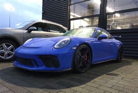 porsche maritime blue grigio telesto 2018 porsche 911 gt3 touring package has