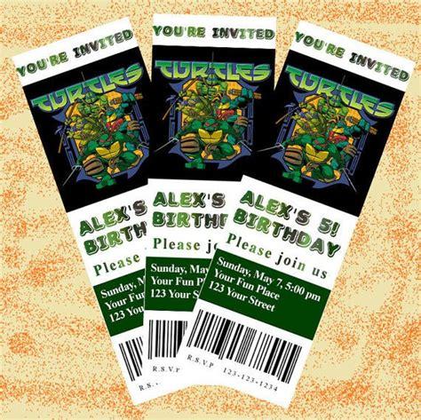 teenage engineering pattern cards teenage mutant ninja turtles ticket invitation with free