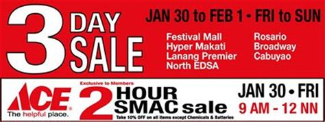 ace hardware festival citylink ace hardware 3 day sale january february 2015 manila