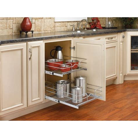 pull out baskets for kitchen cabinets rev a shelf 19 in h x 17 75 in w x 22 in d base cabinet