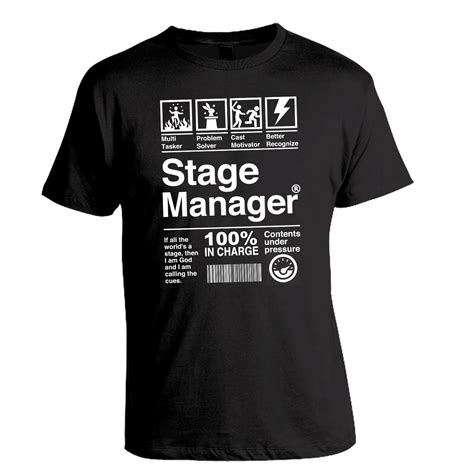 Tshirt Theatre stage manager theatre musical theatre shirt thespian